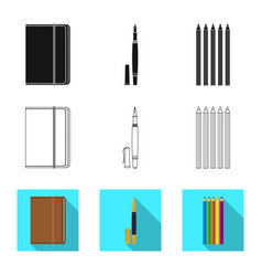 Design of office and supply logo vector