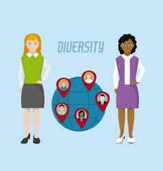 Diversity around the world vector