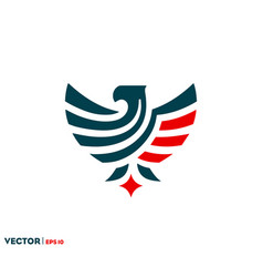 eagle flag logo vector image