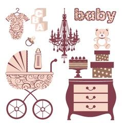 Elegant baby shower vector