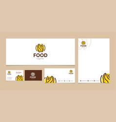 food logo like iconflat line fork spoon logo vector image