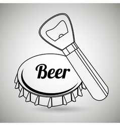 fresh beer design vector image