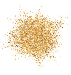 Glowing gold glitter vector