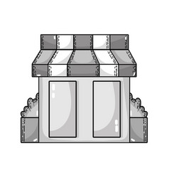 Grayscale supermarket store to shopping fresh vector
