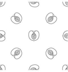 half peach pattern seamless vector image