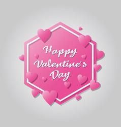 happy valentines day banner design vector image