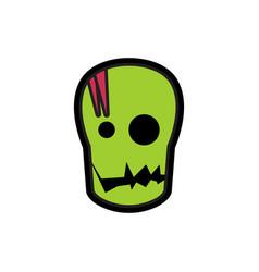Head halloween logo icon design vector
