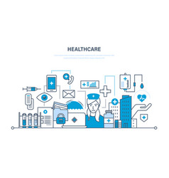 Health care system special tools equipment vector