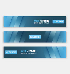 Horizontal website header or banner vector