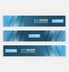 horizontal website header or banner vector image