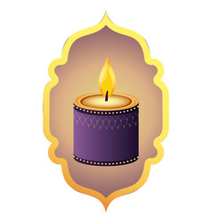 Indian candle decoration vector