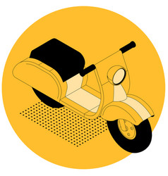 isometric electric scooter vector image