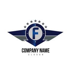 Letter f shield logo vector