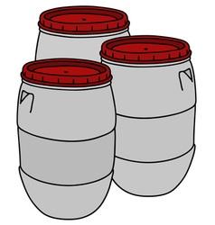 Light plastic barrels vector
