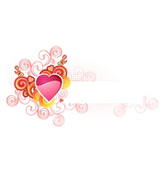 Love heart with space for your text valentine vector