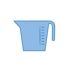 Measuring cup plastic fill icon blue vector
