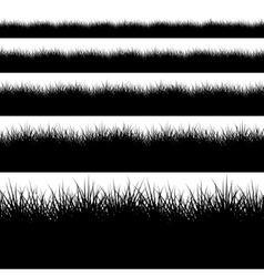 Modern black grass set on white vector
