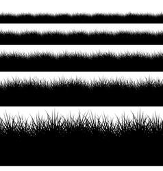 modern black grass set on white vector image