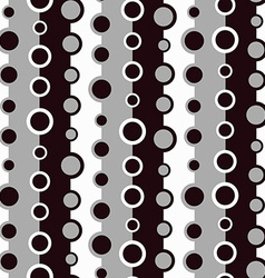 Monochrome circle seamless pattern vector