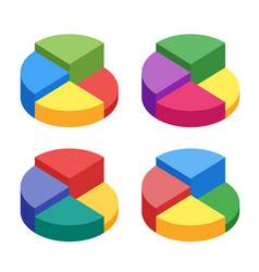 pie chart on isolated background set of bulk vector image