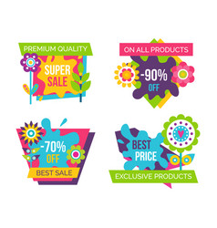 Premium quality all products vector
