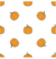 Pumpkin hand drawn on white background hand drawn vector