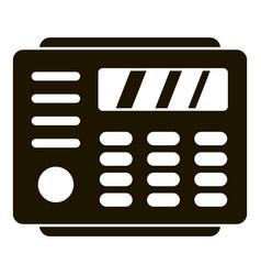 Radio home keypad icon simple style vector