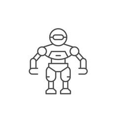 robot line icon vector image