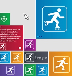 roller skating icon sign buttons Modern interface vector image