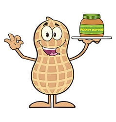 Royalty Free RF Clipart Peanut Cartoon Character vector