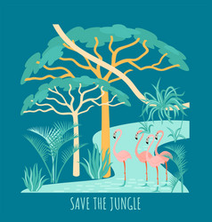 save rainforest vector image