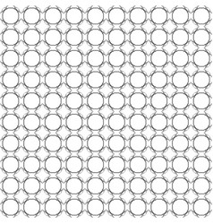 Seamless abstract pattern of circles black on a vector