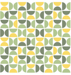seamless pattern with semicircles mid century vector image
