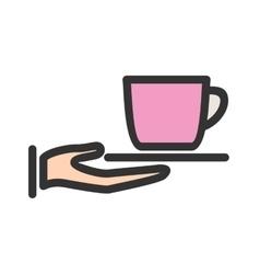 Serve Tea vector image