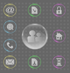 set of transparent icons vector image