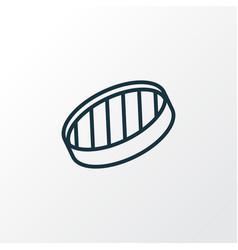 sieve icon line symbol premium quality isolated vector image