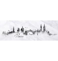 Silhouette ink Venice vector
