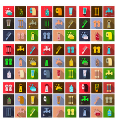 Simple set hygiene icons contains such icons vector