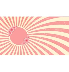 Strawberry cream abstract hypnotic background with vector