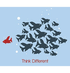 think different vector image