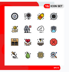 Universal icon symbols group 16 modern flat vector