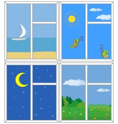 windows with views vector image