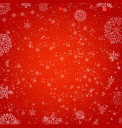 Winter red poster with snow and vector