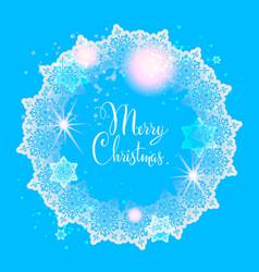 winter wreath background vector image