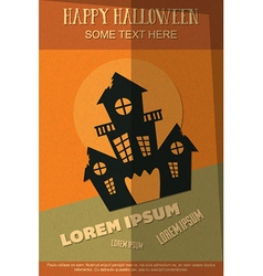 With halloween and haunted house vector