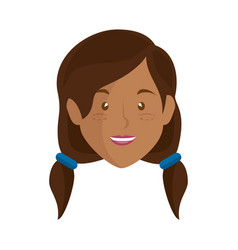 woman face cartoon vector image