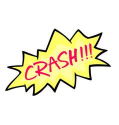 Word text yellow crash image vector