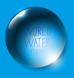 world water day planet earth water drop vector image