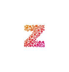 Z particle letter logo icon design vector