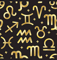 zodiac sign seamless pattern background vector image